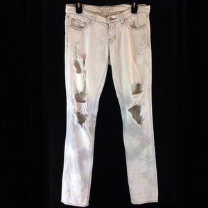 J Brand Pencil Leg Zombie Destroyed Jeans 912C015